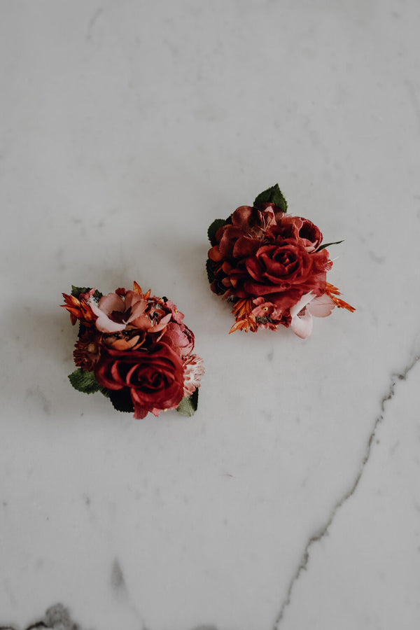 Audrey Handmade Flower Earrings