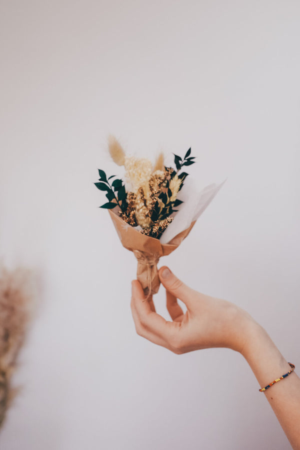 Mustard Small Dried Flower Bouquet
