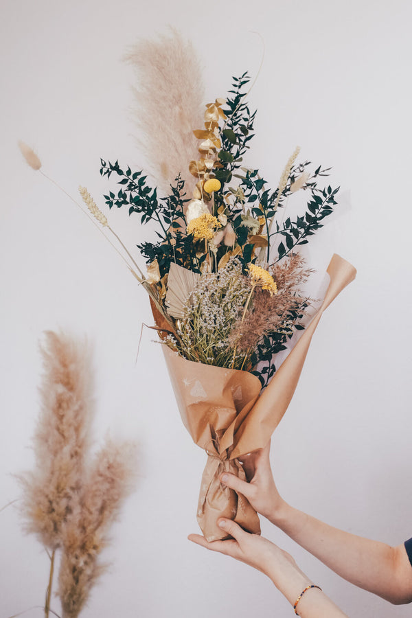 Mustard Large Dried Flower Bouquet