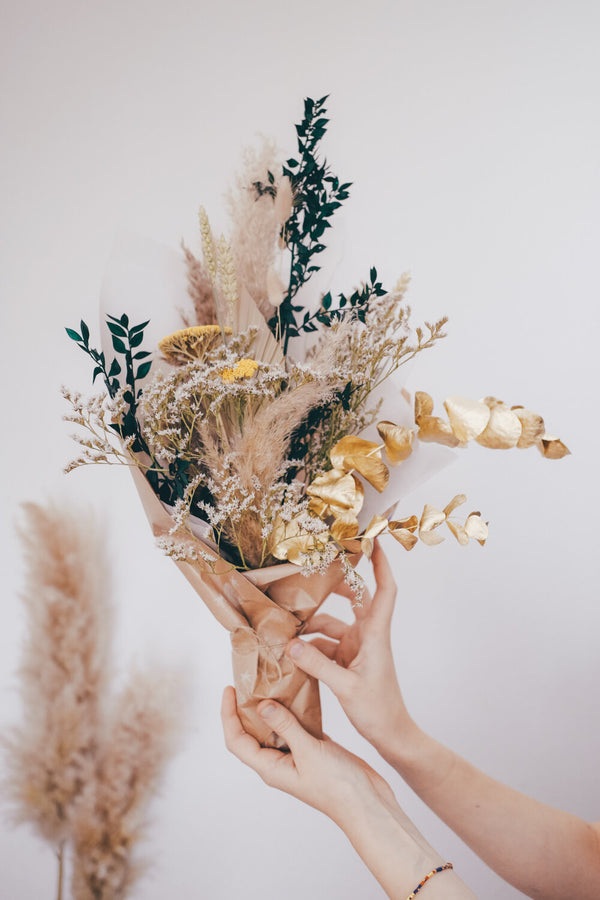 Mustard Medium Dried Flower Bouquet