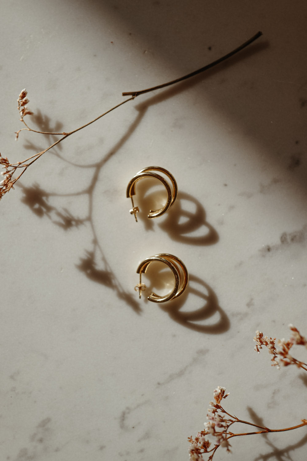 Tiny Clara 18k Gold Earrings