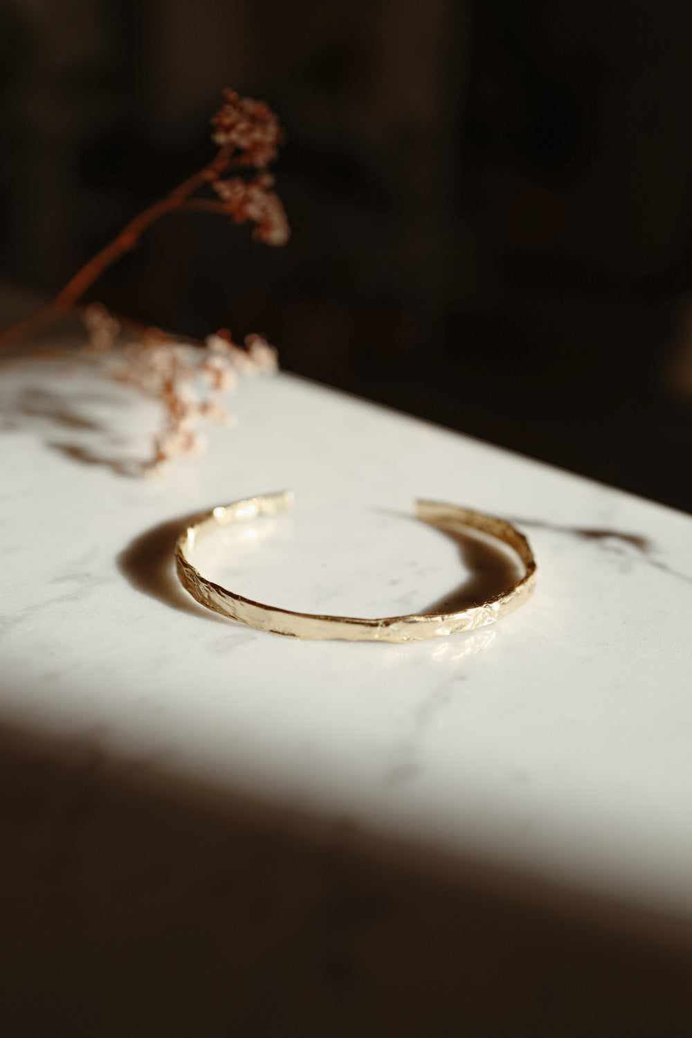 Eugenia Sterling Silver Gold Cuff