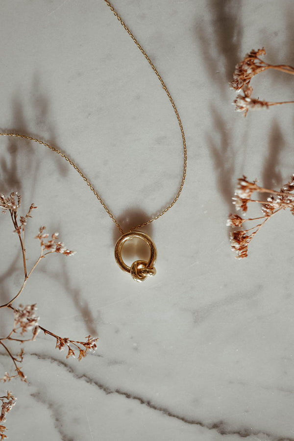 Infinity 18k Gold Necklace