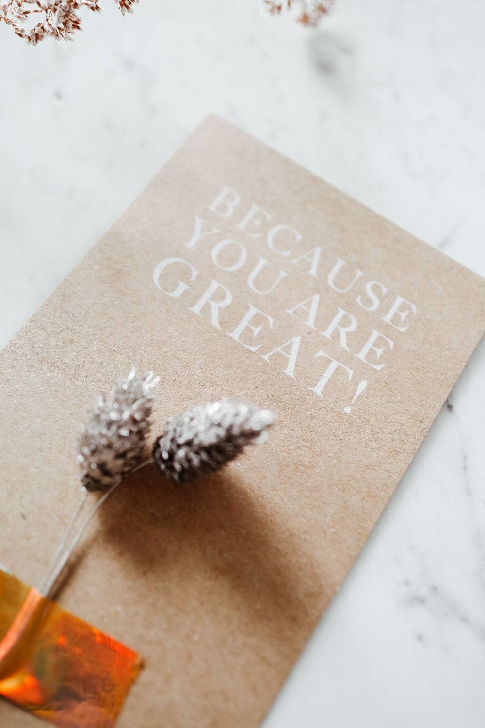 Postcard - Because You Are Great