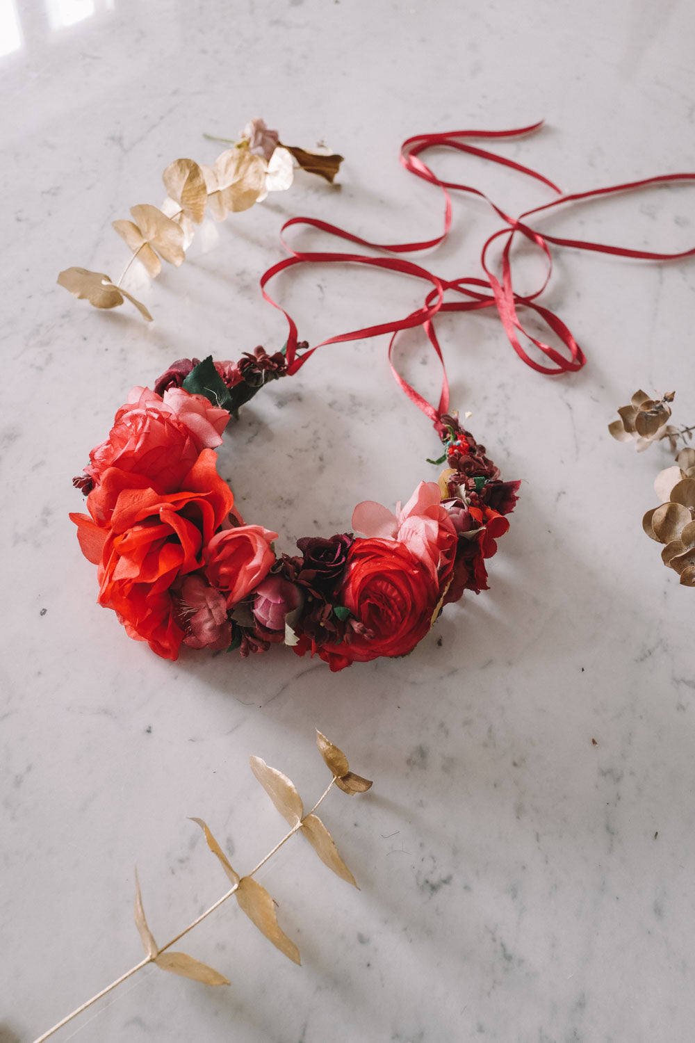 Rasperry Handmade Queen Flowercrown