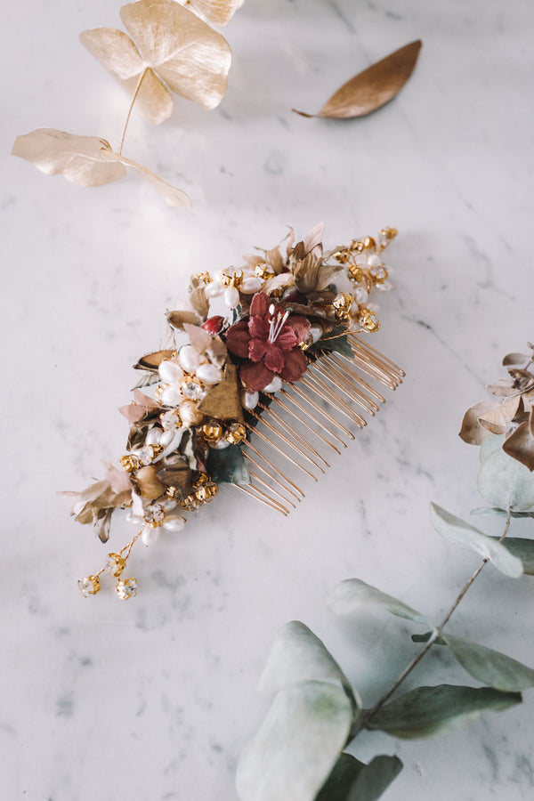 Golden Berry Handmade Hair Comb