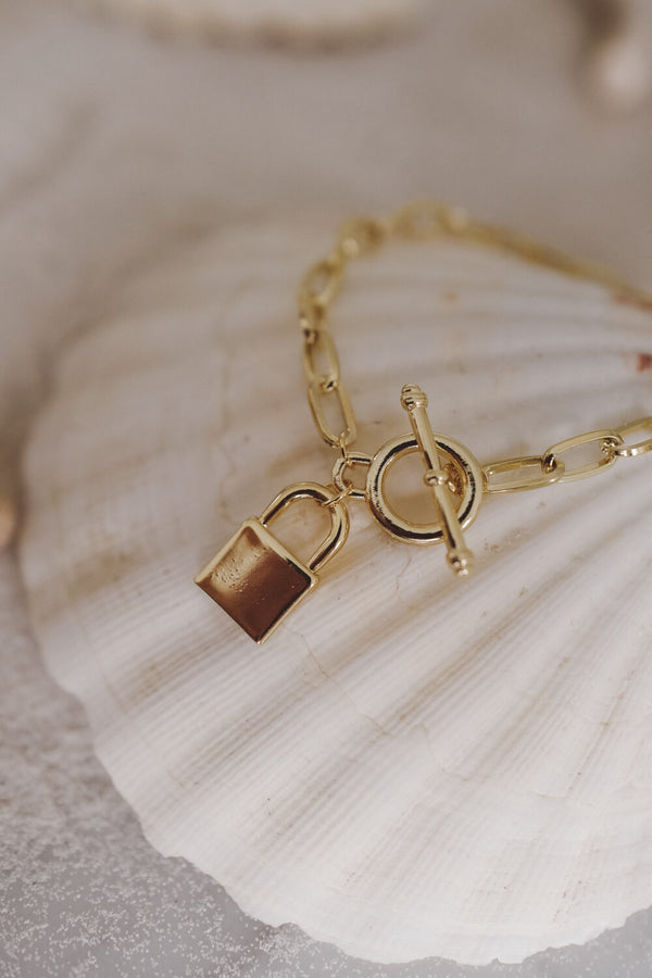 Golden Lock Bracelet