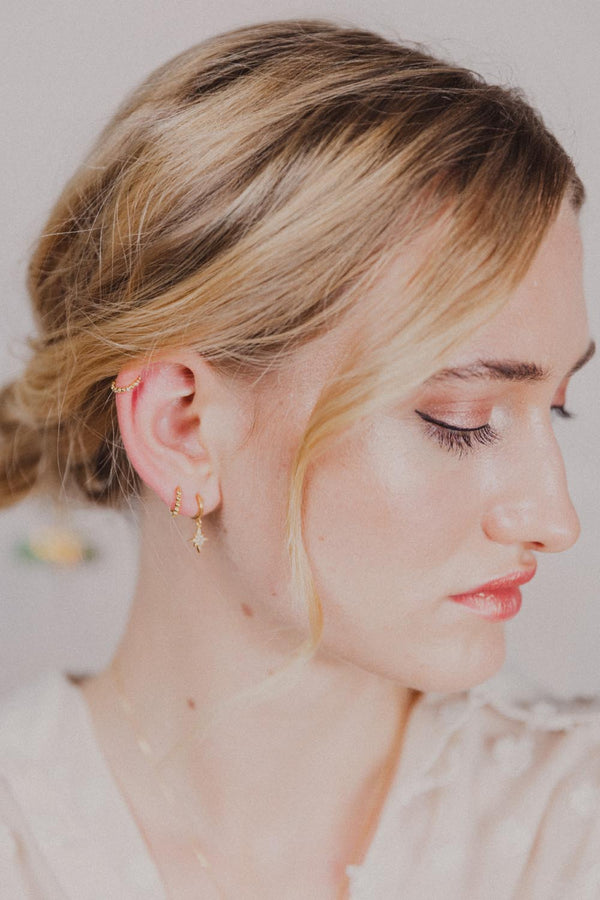 Stardust 18k Gold Hoops