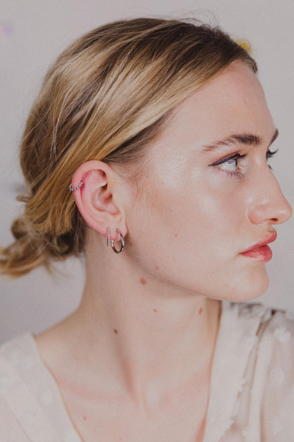 Circle Sterling Silver Hoops