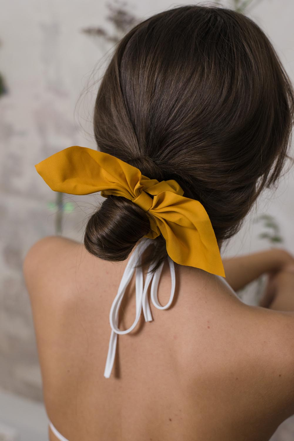 Mustard Hair Scrunchie