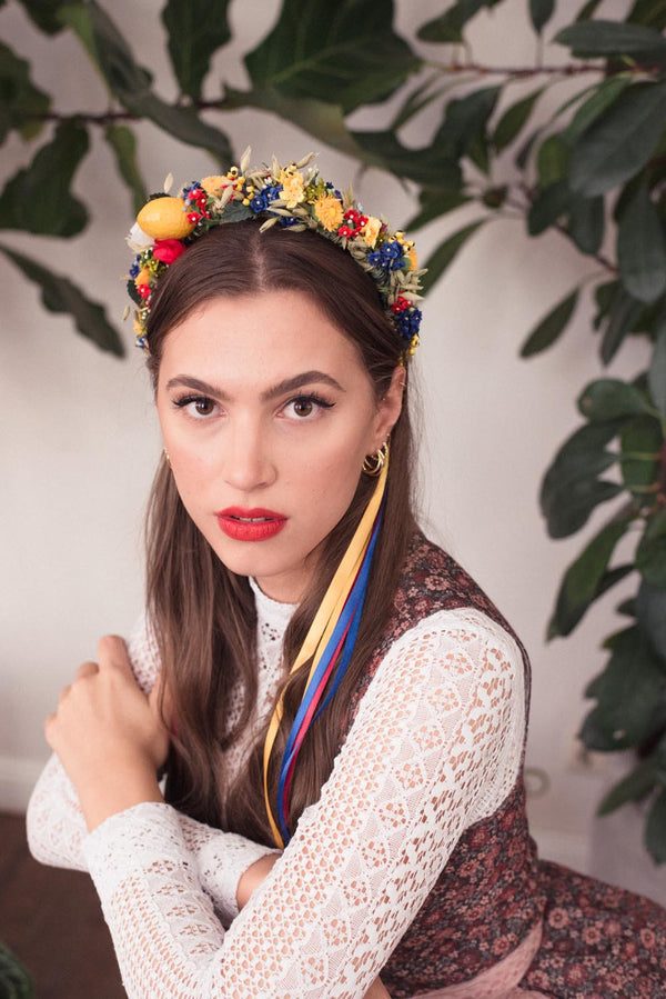 Siziliana Handmade Queen Flowercrown Tracht