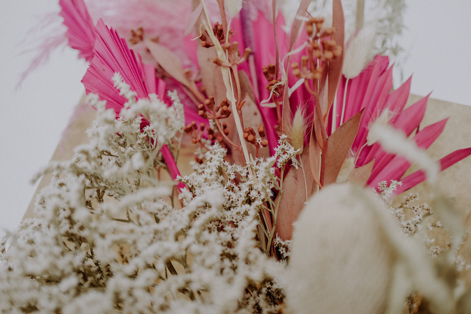 Large Pink Dried Flower Bundle