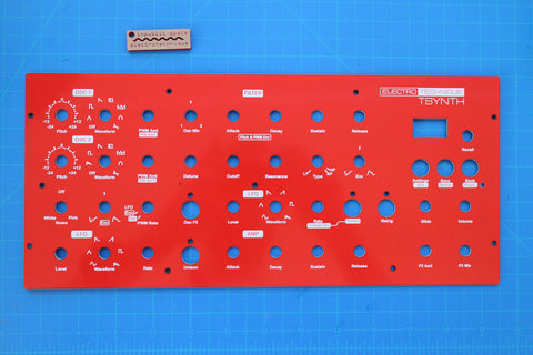 TSynth Board, Front Panel, and Display - Teensy 4.1 based DIY polyphonic synthesizer