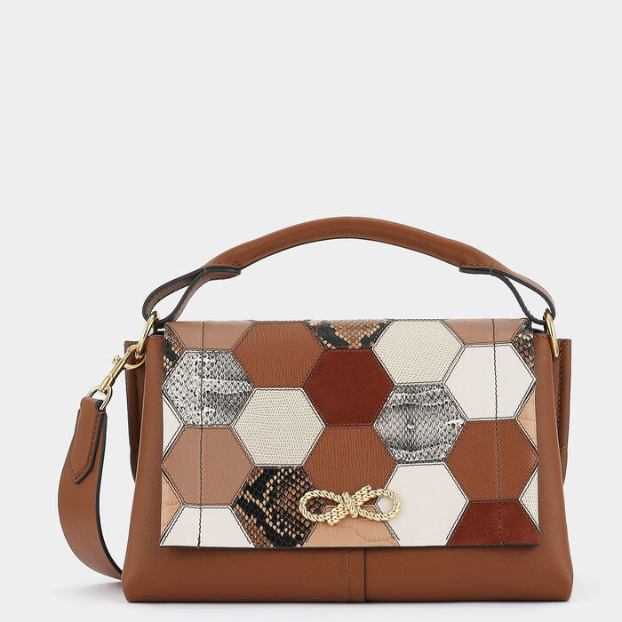 Patchwork Rope Bow Bag