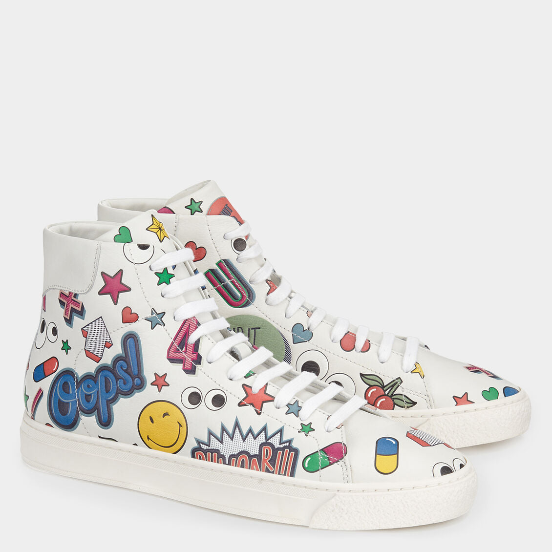All Over Stickers High Tops