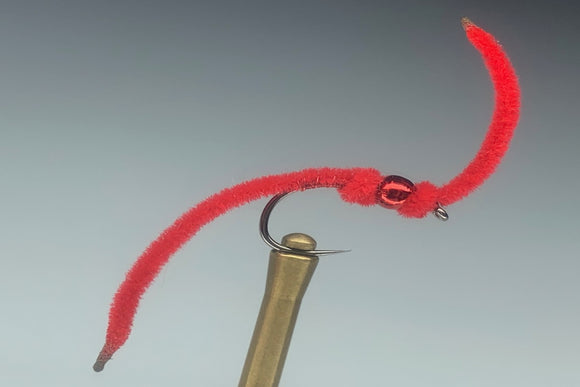 COLLARED WORM (RED) *TUNGSTEN*