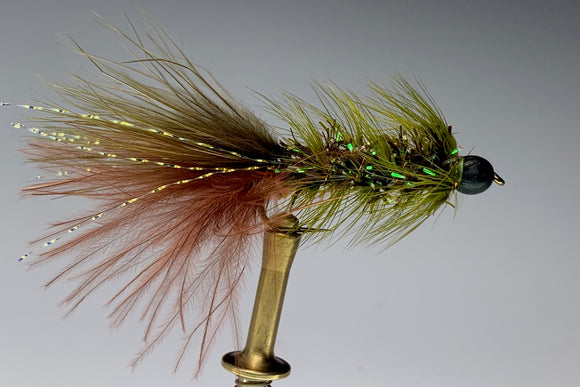 BLOOD TAIL BUGGER (OLIVE/BROWN) *TUNGSTEN*
