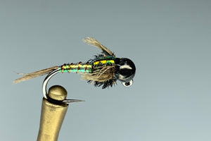 GREEN LIGHTNING JIG (BLACK BEAD) *TUNGSTEN*
