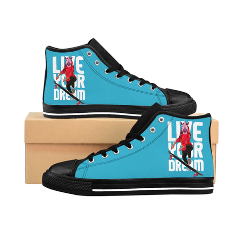 Live Your Dream Aqua High-top Sneakers