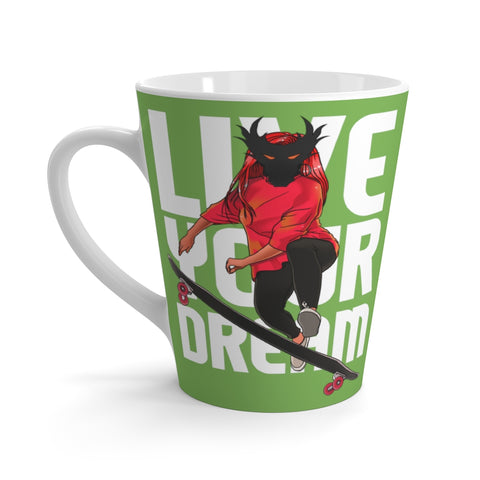 Live Your Dream of Coffee Mug- green Dragon head