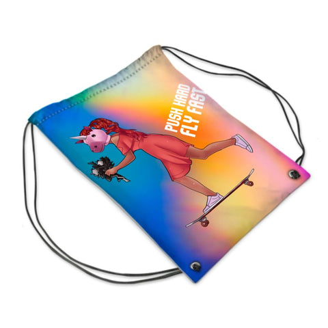 Skating the Magic Rainbow Bag