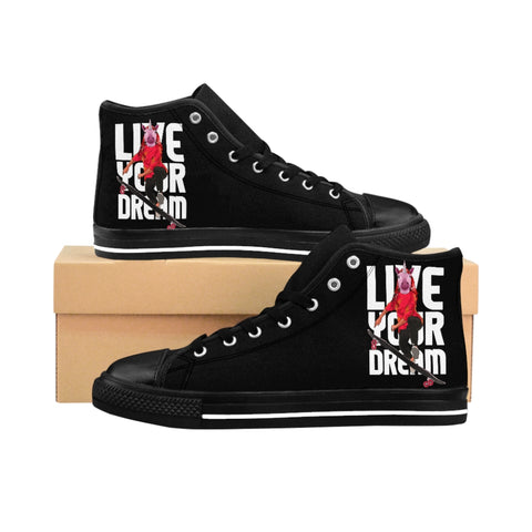 Live Your Dream Ebony High-top Sneakers