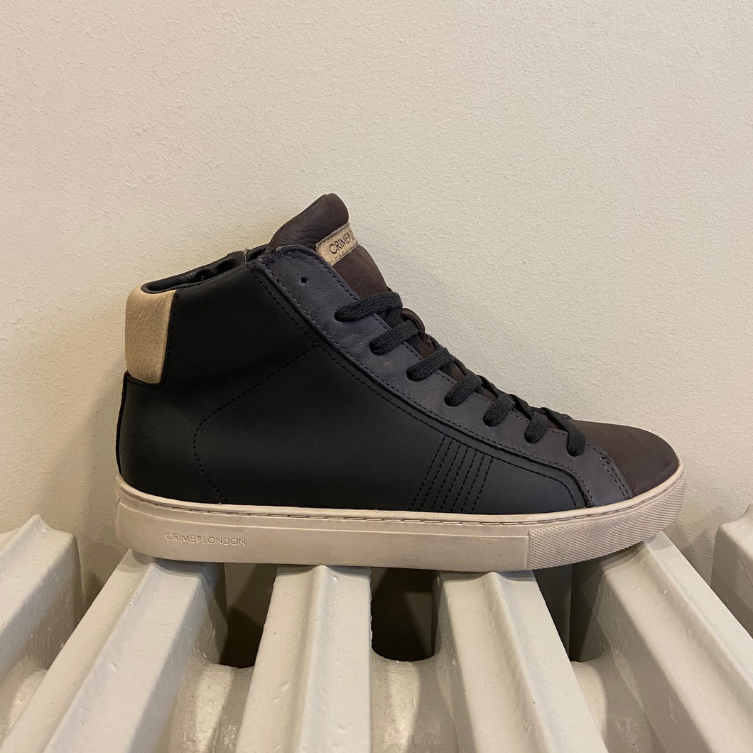 Sneakers alta black/brown uomo