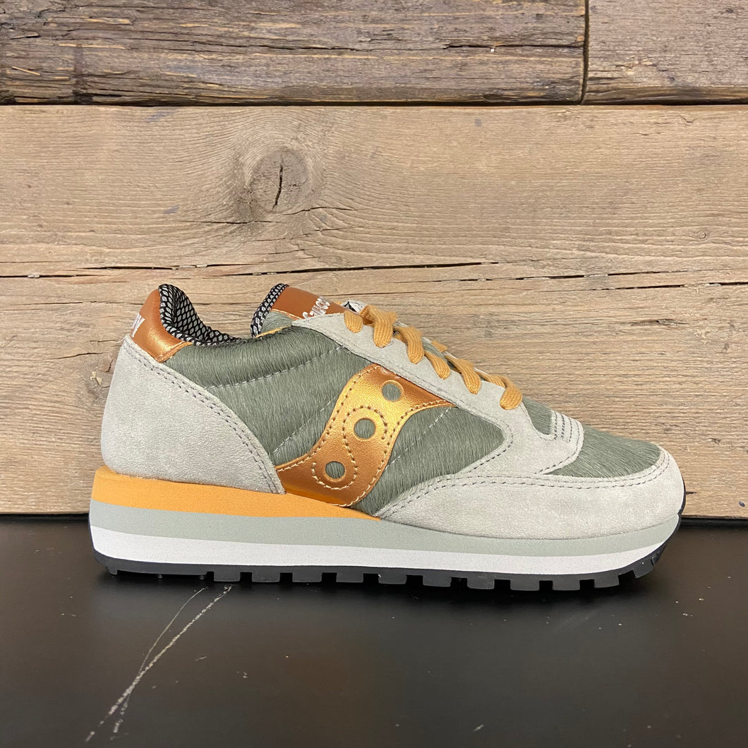 Sneakers triple jazz donna grey/gold