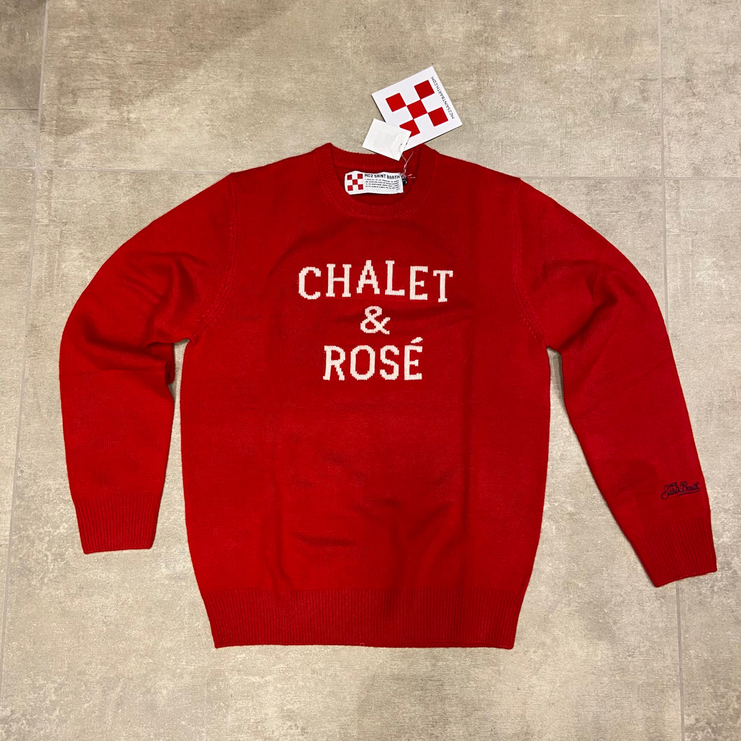 maglione heron chalet rosé rosso