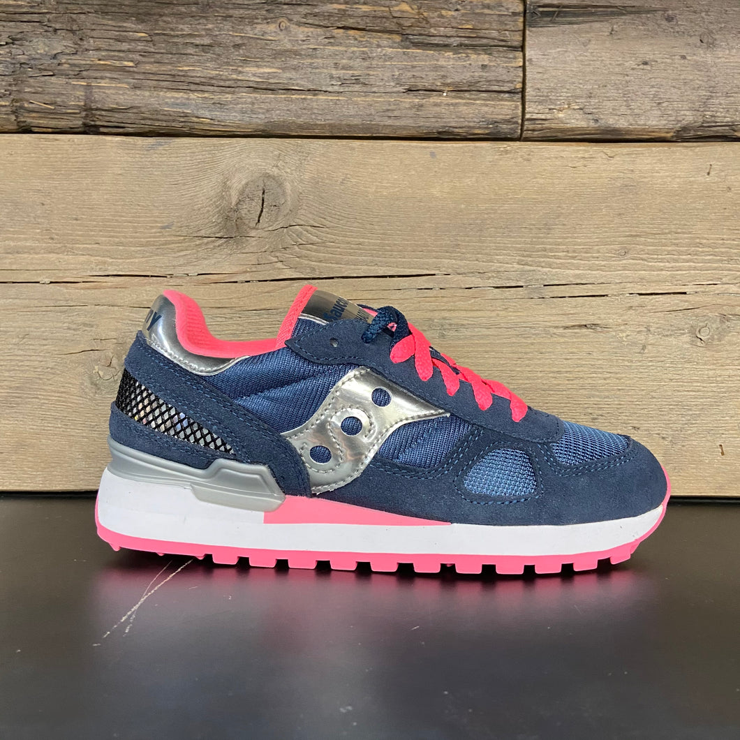 Sneakers shadow donna blu/silver/pink