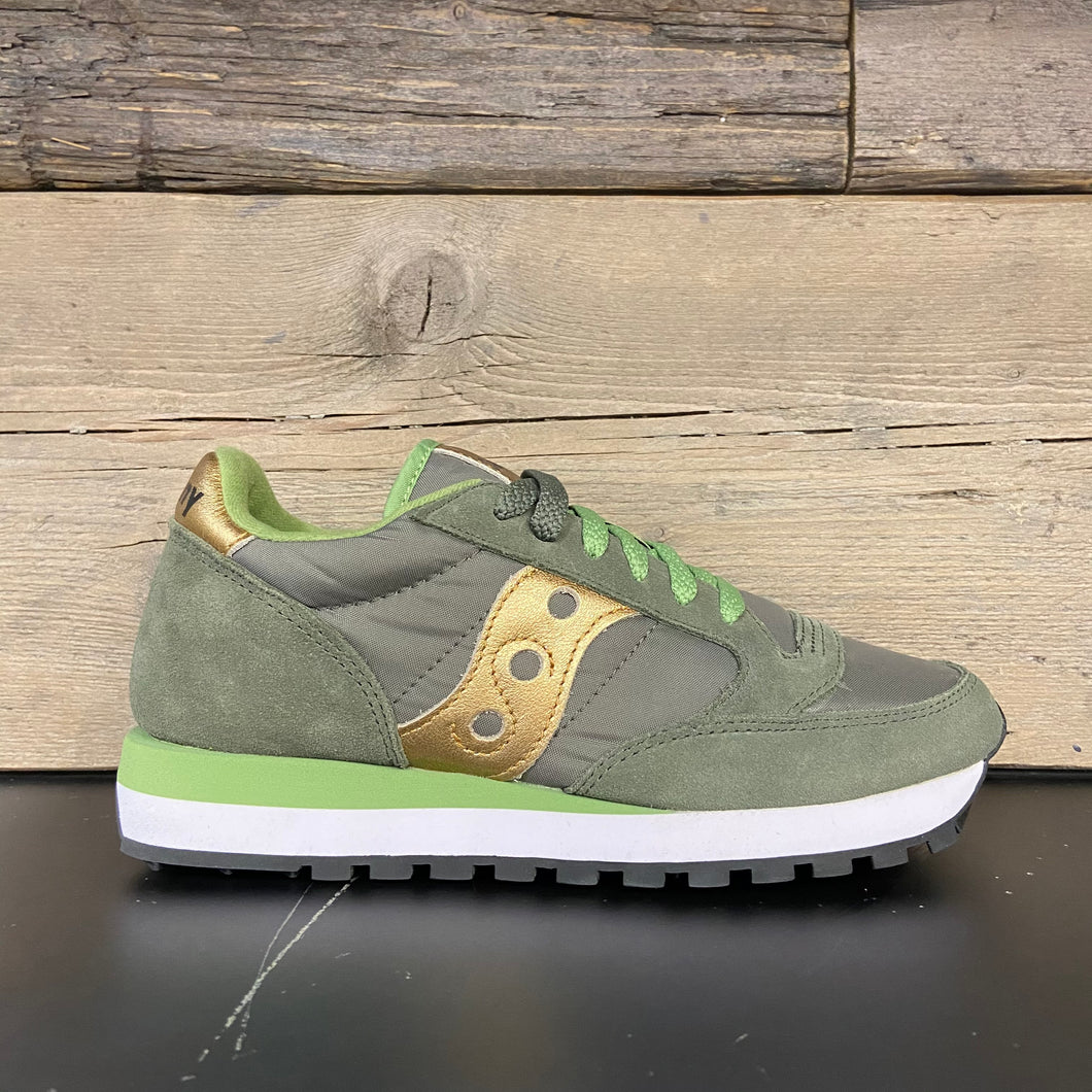 Sneakers jazz donna olive/gold