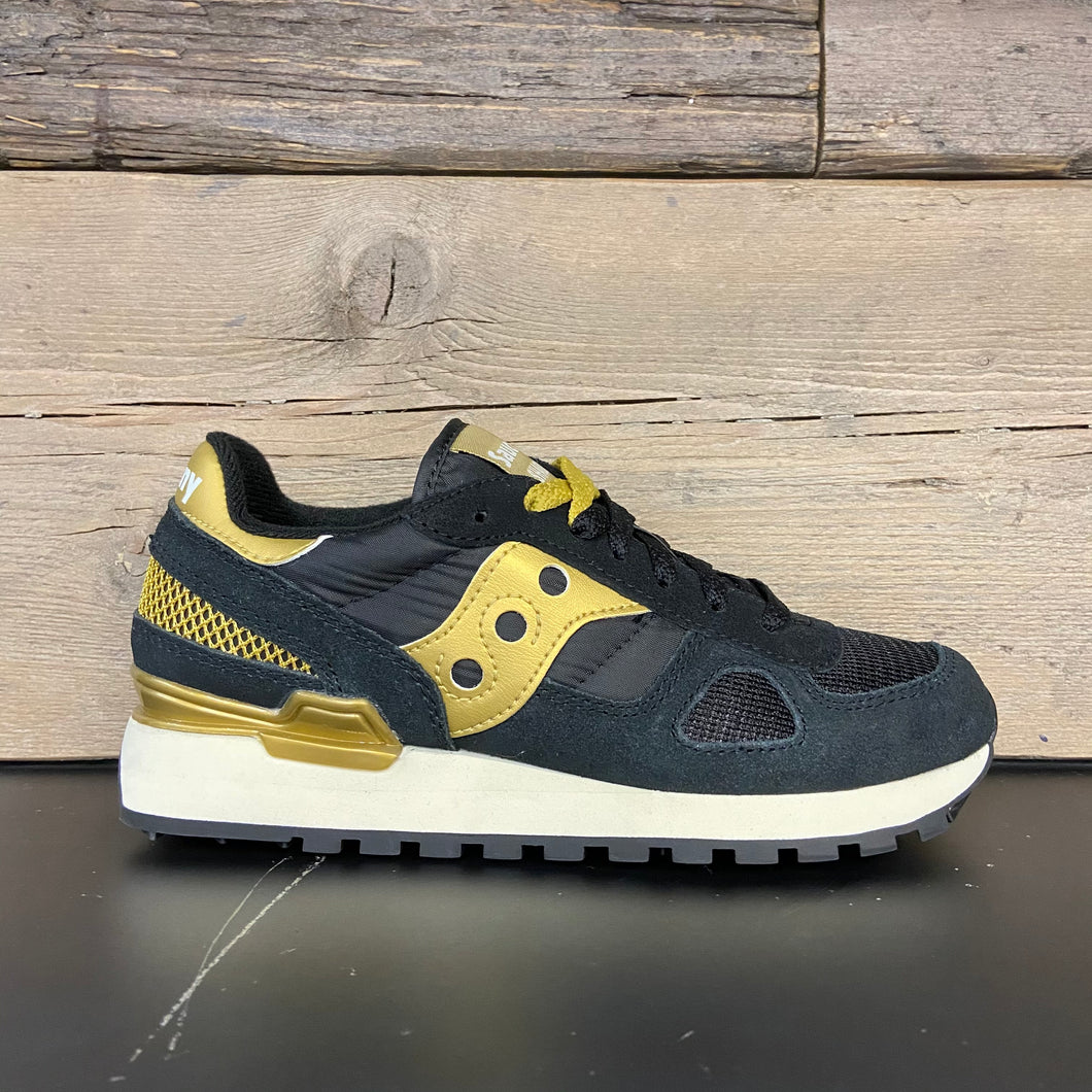 Sneakers shadow donna black/gold