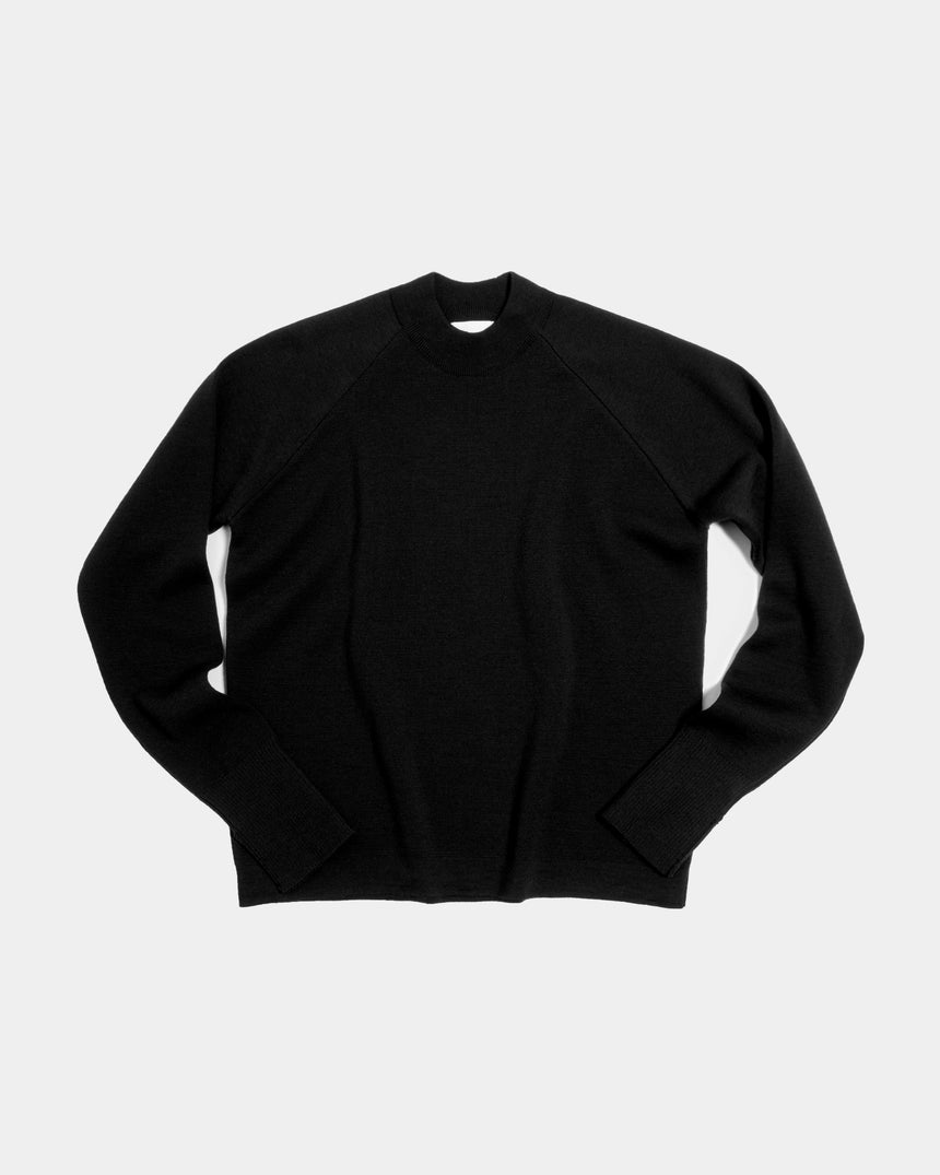 Merino Milano Knit Sweater Black