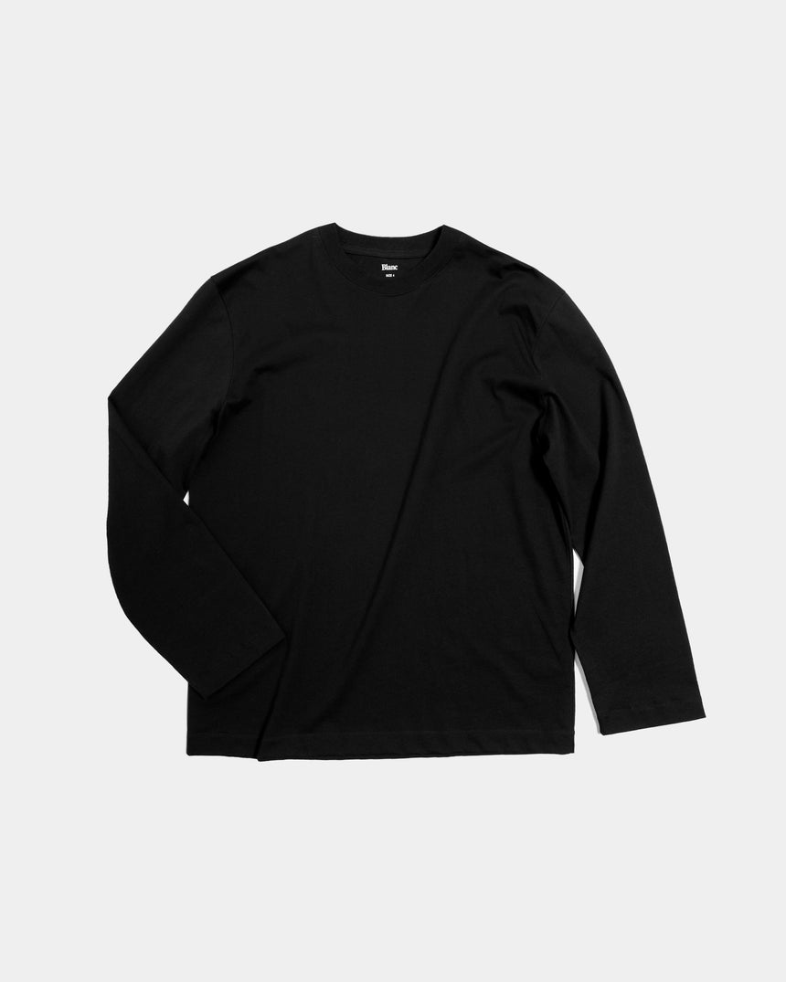 Box Longsleeve, 200 gr. Combed Cotton, Black
