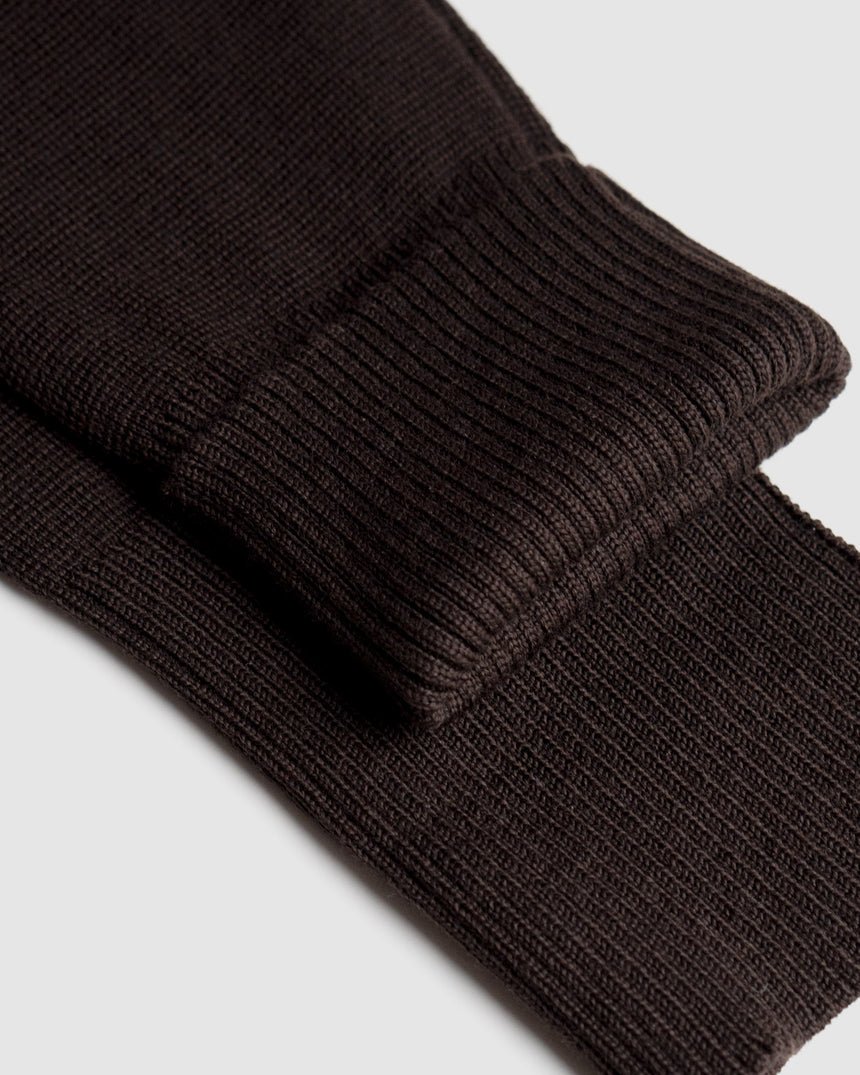 Merino Milano Knit Sweater Chocolate
