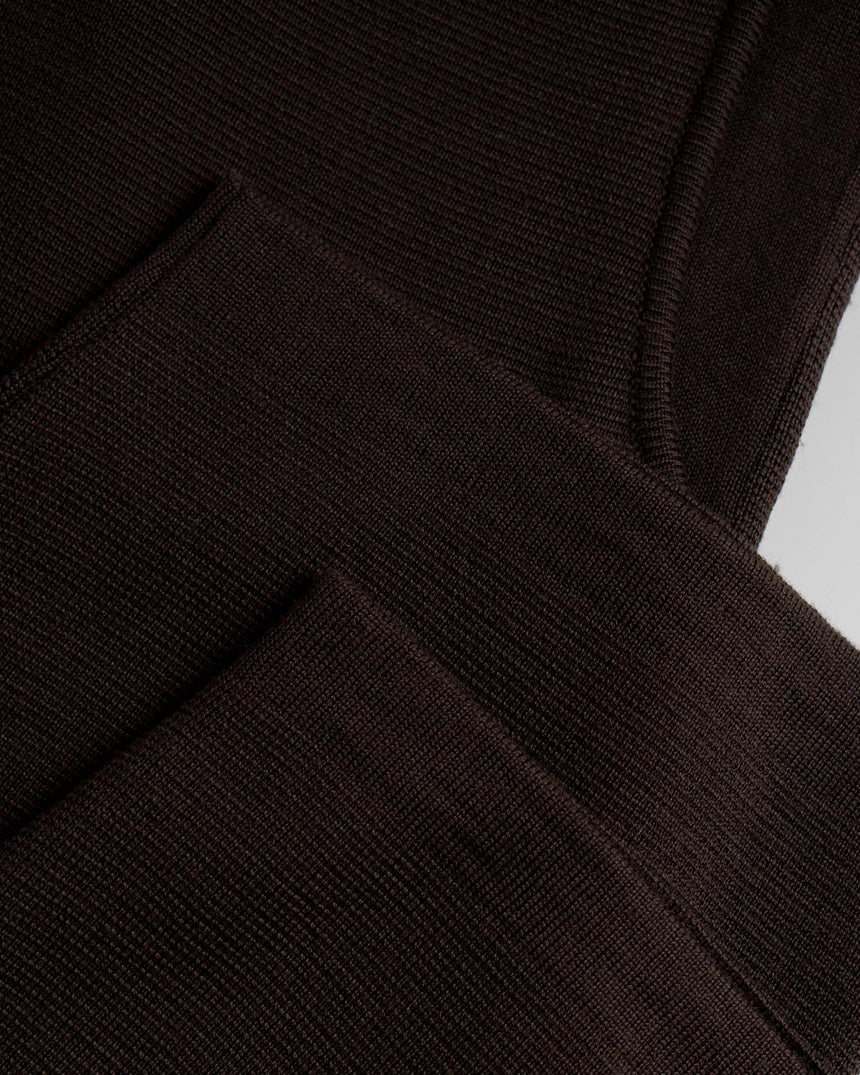 Merino Milano Knit Pant Chocolate