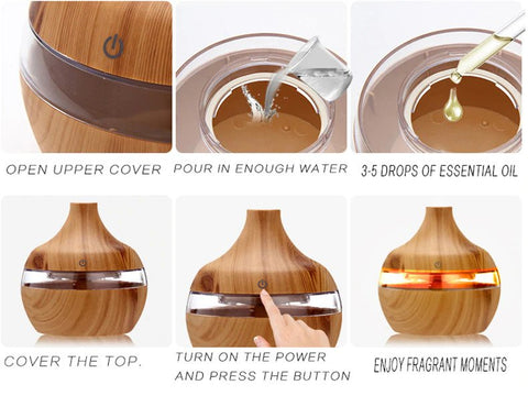Cool Mist Air Humidifier & Purifier with Aroma Diffuser Instruction Manual