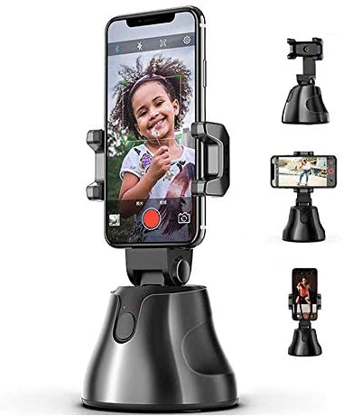 360° Rotation Auto Face Tracking, Smart Shooting Selfie Stick cum Smartphone Mount for LiveStream, YouTube, TikTok Video Shooting - Apai Genie