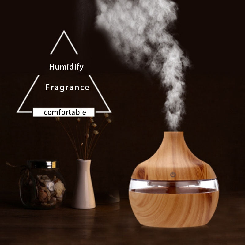 Cool Mist Air Humidifier & Purifier with Aroma Diffuser