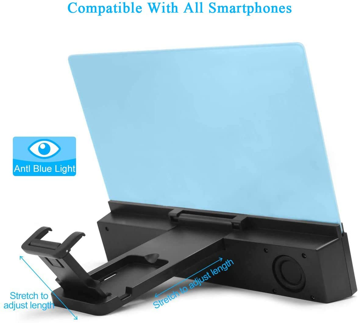 "12"" HD Mobile Phone Screen Magnifier with Bluetooth Speaker"