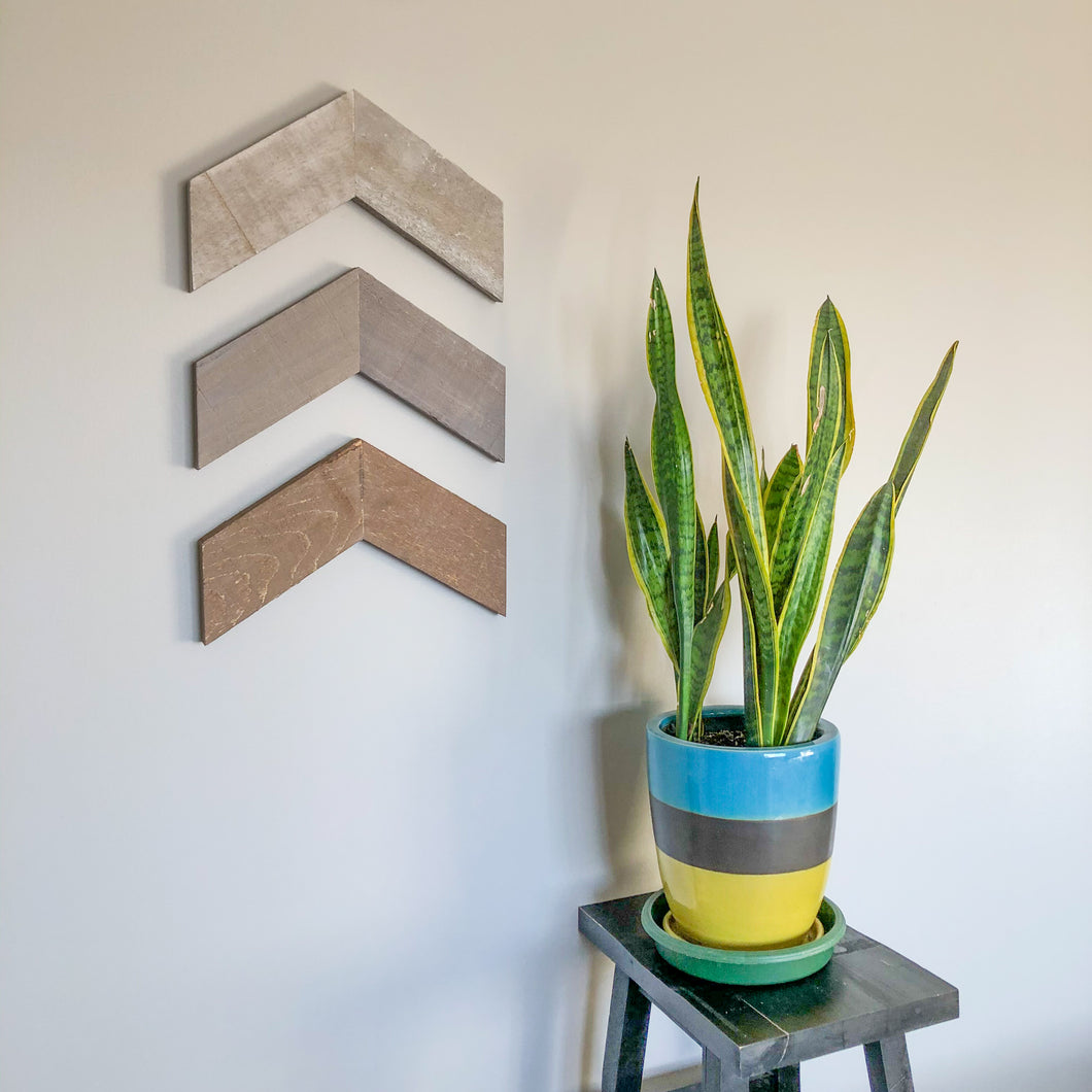 Rustic Barn Board Chevrons | Set of Three