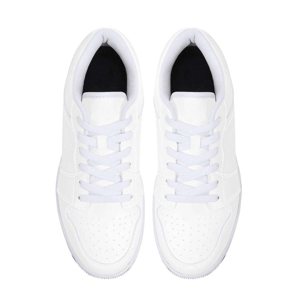 DIY Low-Top Leather Sneakers - White - Printer Me - Fashion & Style