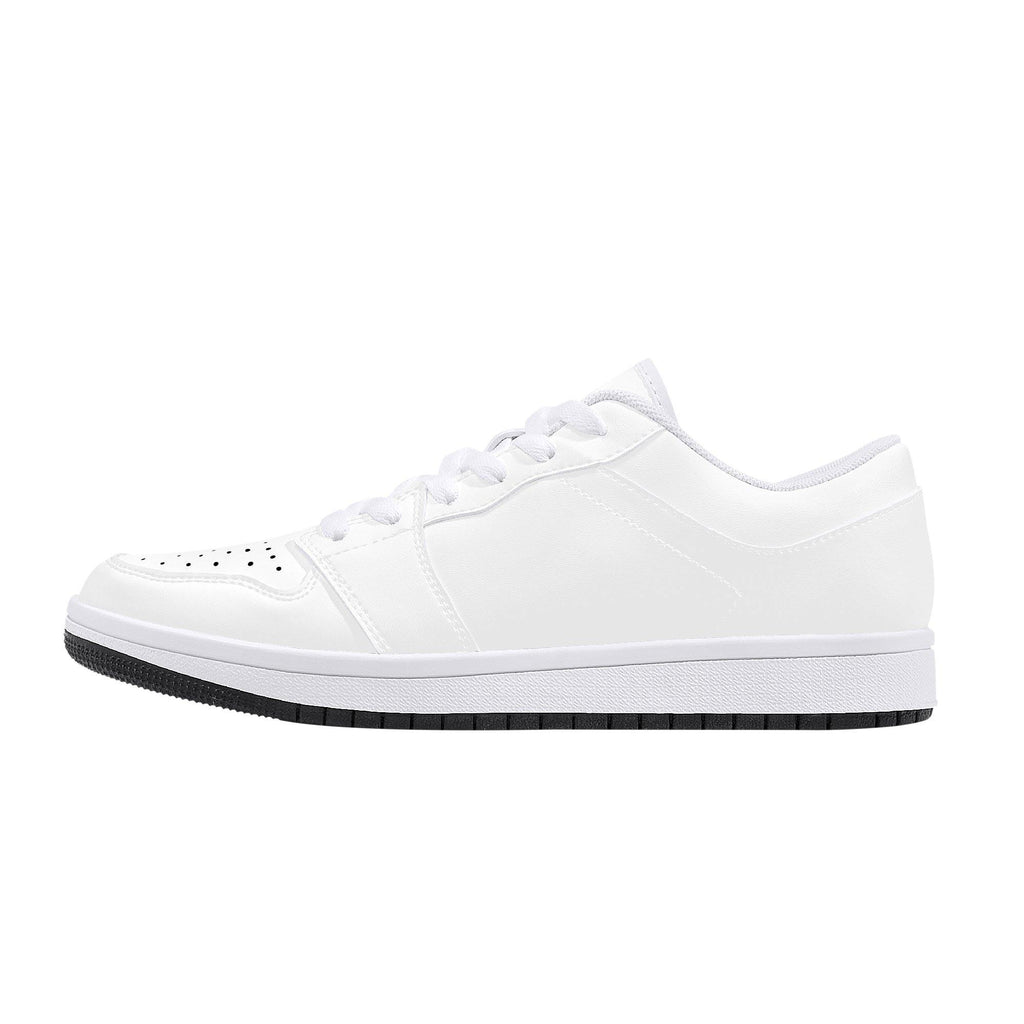 D15 Low-Top Leather Sneakers - White - Printer Me - Fashion & Style