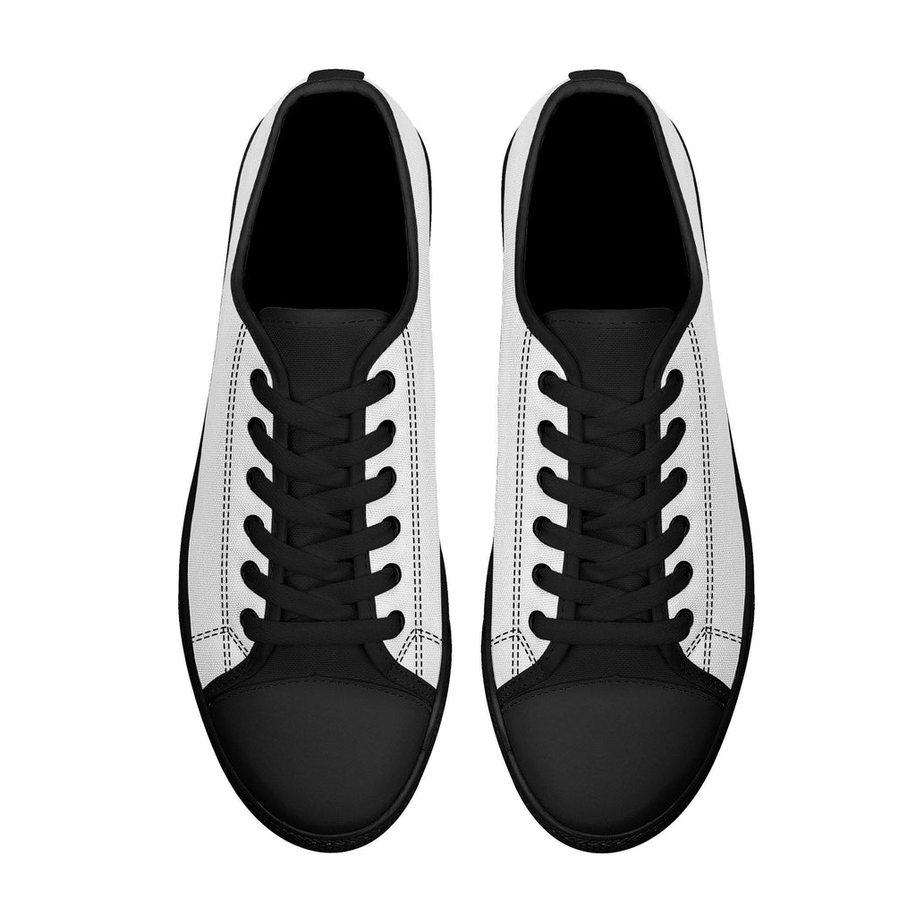 DIY Rubber Outsoles Low-Top Canvas Shoes - White - Printer Me - Fashion & Style