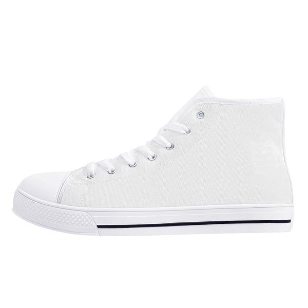 DIY High-Top Canvas Shoes - White - Printer Me - Fashion & Style