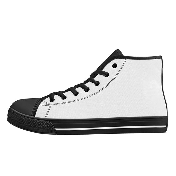 DIY High-Top Canvas Shoes - Black - Printer Me - Fashion & Style