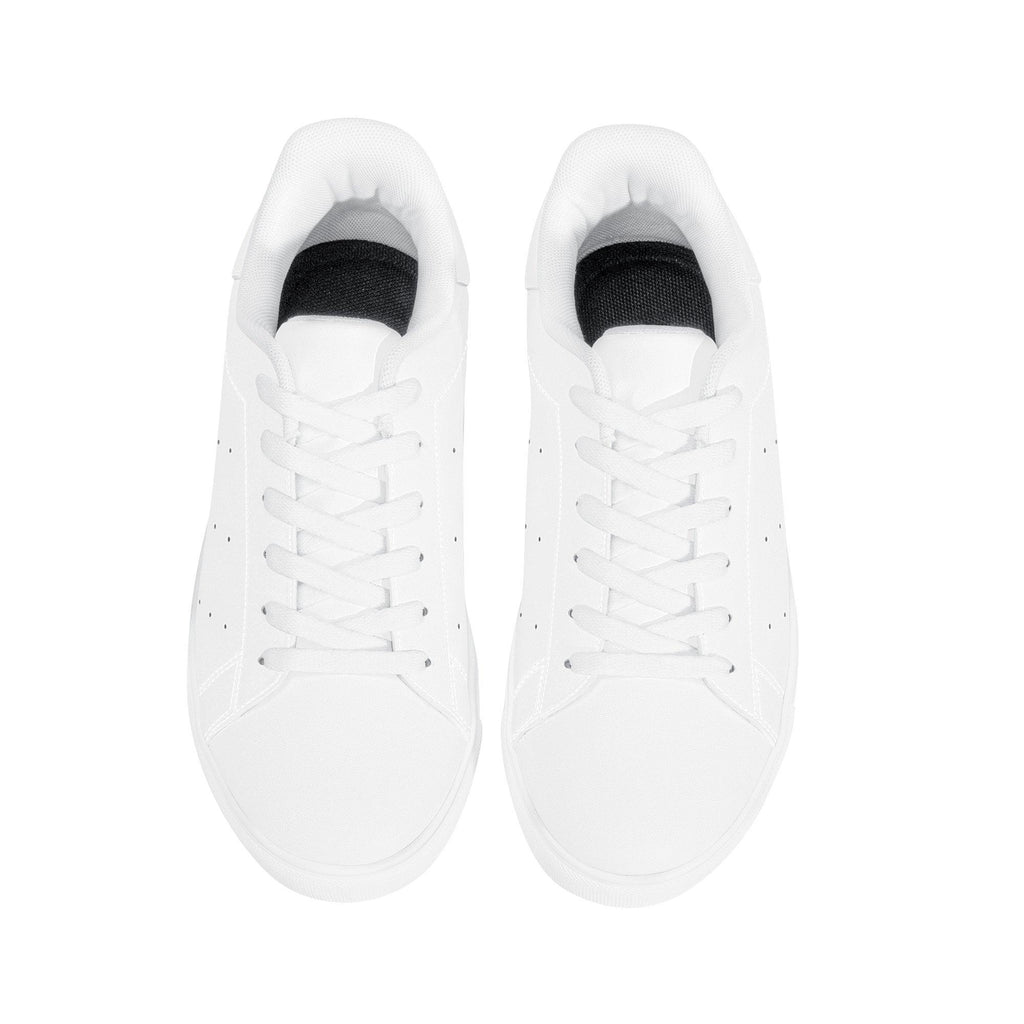 DIY Low-Top Dotted Leather Sneakers - White - Printer Me - Fashion & Style