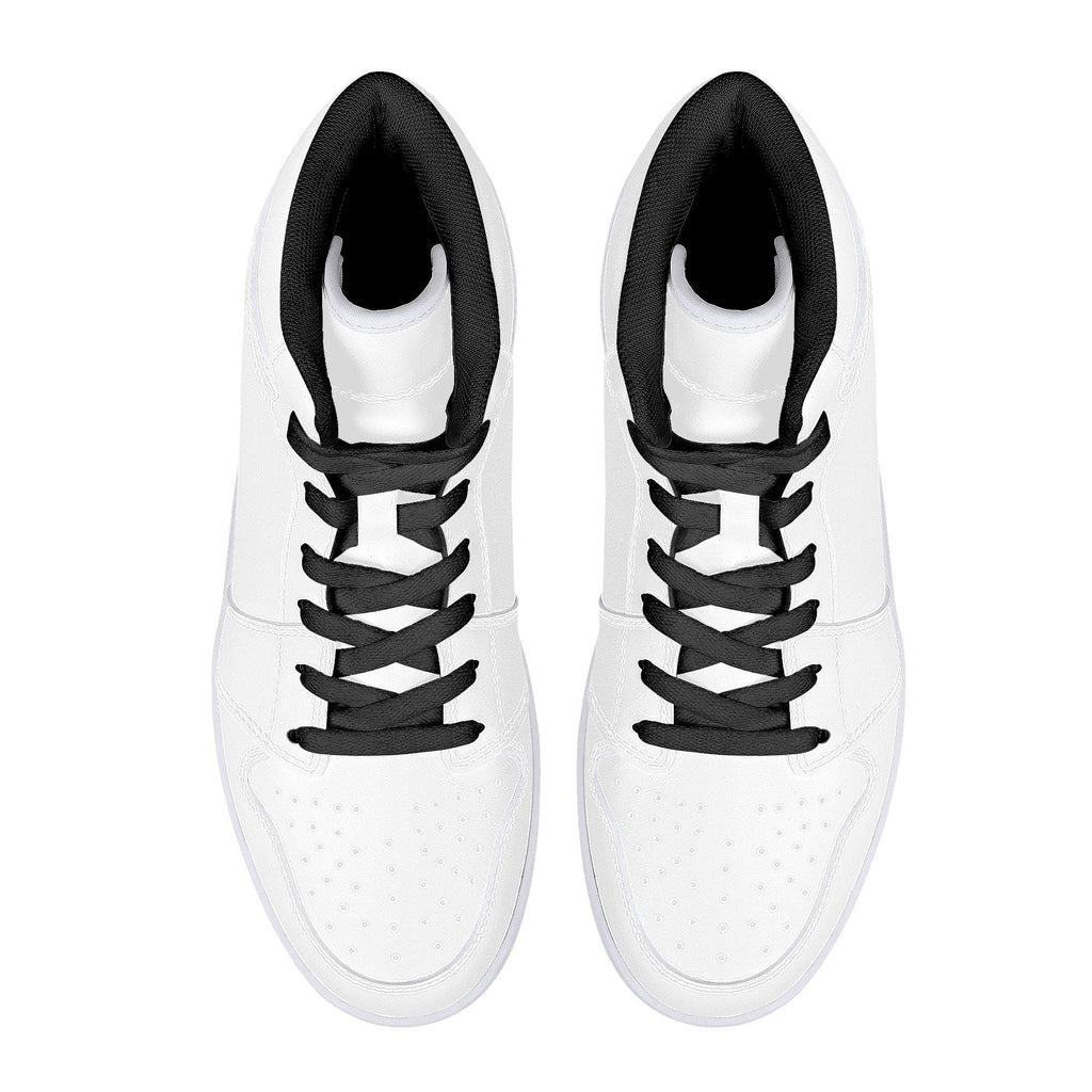 DIY High-Top Leather Sneakers - Black - Printer Me - Fashion & Style