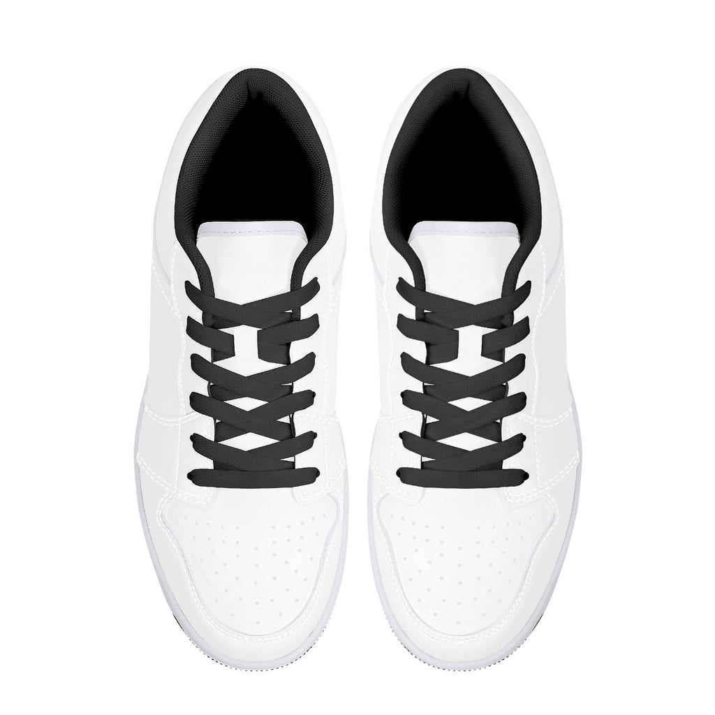 D15 Low-Top Leather Sneakers - Black - Printer Me - Fashion & Style