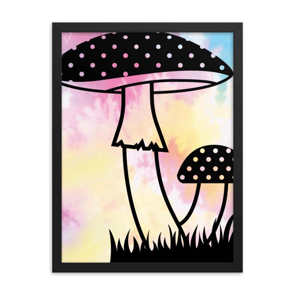 Framed Mushroom poster - Printer Me - Fashion & Style